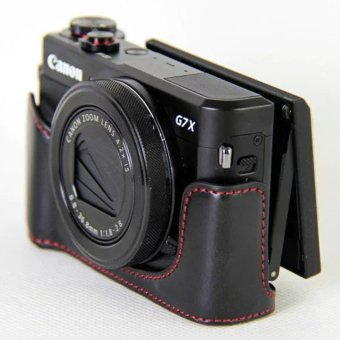 Vintage Leather Camera Case for Canon powershot G7XII / G7 X II /G7X MarkII / G7 X Mark II Camera Bag Cover - intl - 3