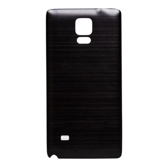 Vococal Brushed Metal Cover Case for Samsung Galaxy Note 4 (Black)