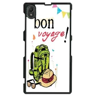 Voyage Pattern Phone Case for Sony Xperia Z1 L39h (Black)