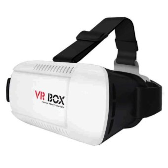 Vr Box Goggles Virtual Reality 3D Glasses for iPhone Android(White/Black)
