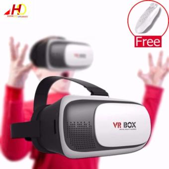 VR Box II 2.0 3D Virtual Reality Glasses for Smartphone with FREE VR Controller