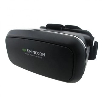 VR Box Shinecon Smartphone 3D Virtual Reality Glasses (Black) WithJ-03 Adjustable Stereo Smartphone Headset (Black) - 3