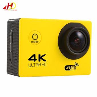 W8 4K 1080p Ultra HD DV 16MP WiFi Sports Action Camera (Yellow) - 2