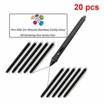 Wacom 20 pcs / lot Universal Black Nibs Replacement Stylus for Bamboo CTL-460 660 470 471 671 - intl
