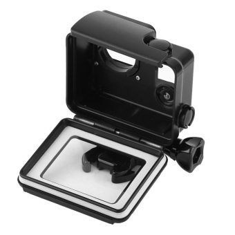 Waterproof ABS Housing Protective Case With Touchable Backdoor For Gopro Hero 4/3+ Camera(Black) - intl - 4