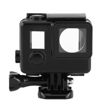 Waterproof ABS Housing Protective Case With Touchable Backdoor For Gopro Hero 4/3+ Camera(Black) - intl - 2
