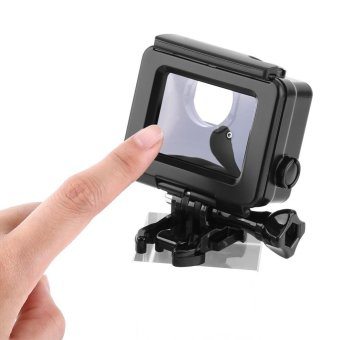 Waterproof ABS Housing Protective Case With Touchable Backdoor For Gopro Hero 4/3+ Camera(Black) - intl - 5