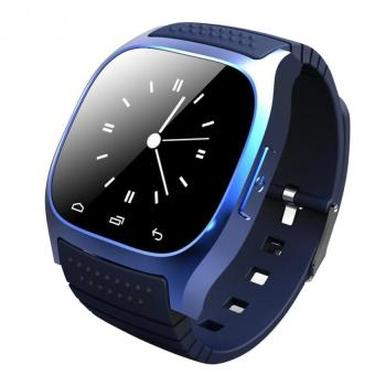 Waterproof Bluetooth Smart Watch Smartwatch With LED Alitmeter Music Player Pedometer for Mobile Phone smartphone (Blue)
