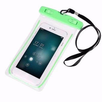 Waterproof Underwater Case Dry Pouch for Mobile Android Smartphone and iPhone 6 Plus, Samsung Phone and Apple Glow in the Dark ( Green )