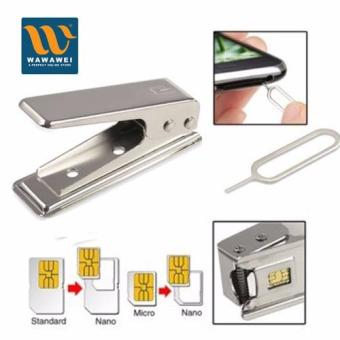 Wawawei Standard Sim to Nano Sim Card Punch Cutter with ejectionpin & Micro to Sim Adapter for iPhone,Samsung etc.