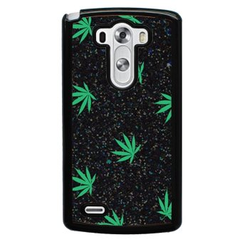 Weed Hipster Quote Pattern Phone Case for LG G3 (Black)