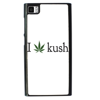 Weed Hipster Quote Pattern Phone Case for Xiaomi Mi3 (White)