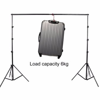 Wego fashion,high-quality,Adjustable 3x2.6m Pro Portable Heavy-DutyBackdrop Support System Kit 3m * 2.6m- Tripod is adjustable + CarryBag- Professional Photo Studio Backgrounds Kit - intl - 5