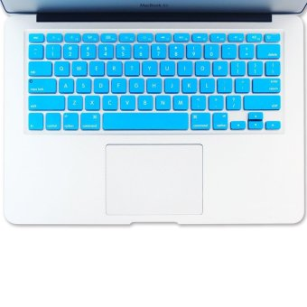 Welink Fashion Silicone US Keyboard Cover Waterproof KeyboardProtector Skin For Apple Macbook Air 13 Inch , Macbook Pro 13 Inch15 Inch And Imac (Aqua) - 2