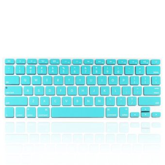 Welink Fashion Silicone US Keyboard Cover Waterproof KeyboardProtector Skin For Apple Macbook Air 13 Inch , Macbook Pro 13 Inch15 Inch And Imac (Turquoise)