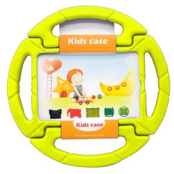 Wheel Steering Kids Protective Silicone Case Cover For Apple iPadMini 1 2 3 4 (Yellow)