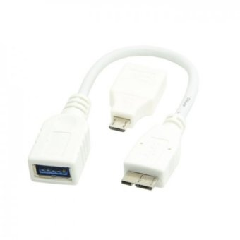 White Micro USB 3.0 OTG Host Flash Disk Cable for Samsung Galaxy Note3 S5 & thinkpad 8 with Micro USB Adapter