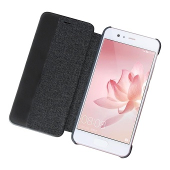 Window View Flip Cover PU Leather Hard Back Case for Huawei P10(Black) - intl - 4