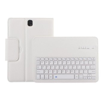 Wireless Bluetooth Keyboard Protective Case Magnetism AbsorptionFunction Detached Cover Tablet Bracket for 9.7inch Samsung GalaxyTab S3 SM-T820 SM-T825 Model White - intl