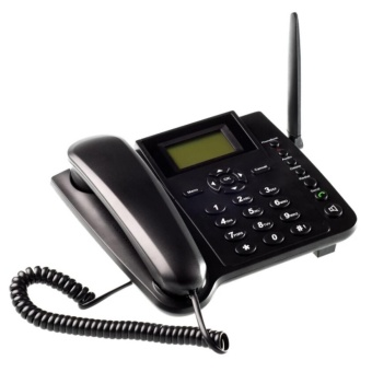 Wireless QuadBand SIM Card GSM Desk Phone Mobile Home Desktop Telephone - intl