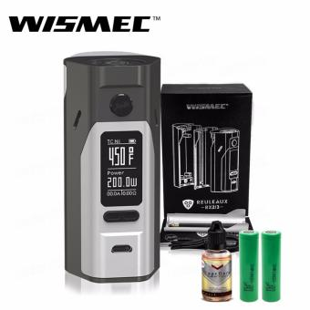 Wismec Reuleaux RX2/3 200W Variable Electronic Cigarette Mod (Gray/Silver) with 30ml Premium Quality E-Juice (Flavor May Vary) & LHR Shrek 2500mAh or 2600mah INR18650 Battery