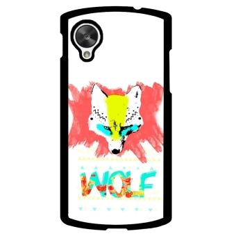 Wolf Pattern Phone Case for LG Nexus 5 (Black)