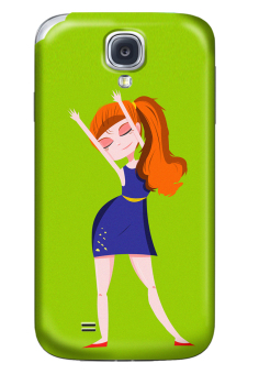 Wonder Cover Ginger Glossy Hard Case for Samsung Galaxy S4 (Green)