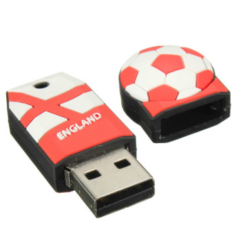 World Cup Football Model Flash Memory Stick Storage 8GB USB 2.0 Thumb Pen Drive England (Multicolor) - picture 2