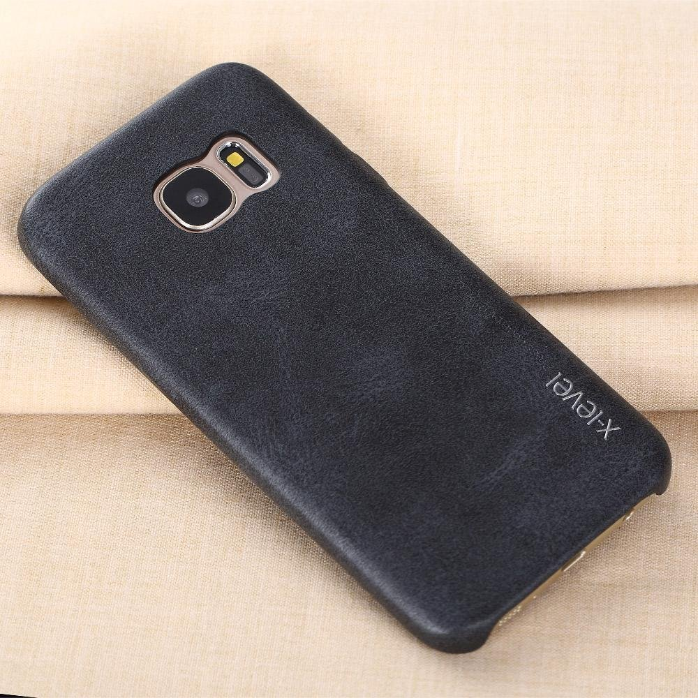 ... X-Level New PU Leather Phone Case For Samsung Galaxy S7 edge Ultrathin Protective Back ...