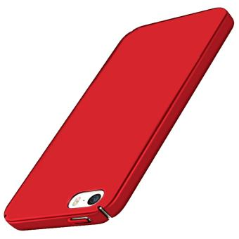 X-Level Slim Matte Rubberized Finish Hard Case For Apple iPhone 5s (Red) - 2