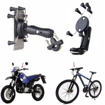 X-Shape 6 Feet Motorcycle MTB Bike Bicycle Handlebar Mount HolderFor Cell Phone - intl
