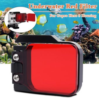 XCSOURCE LF384 Diving Correction Filter for Gopro Hero 3 (Red)
