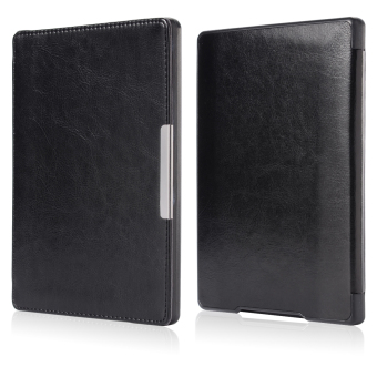 XCSOURCE Magnetic Leather Cover for Kobo Aura H2O (Black)