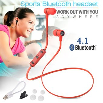 XCSOURCE Wireless Bluetooth 4.1 Sport Earphone (Red)