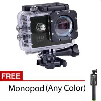 xiaocai-S8 1080P HD 12.0MP Action Camera (Black) with Free Monopod
