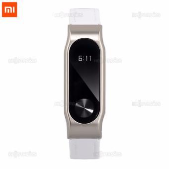 Xiaomi Mi Band 2 Replacement Leather Wrist Strap (White) - 3