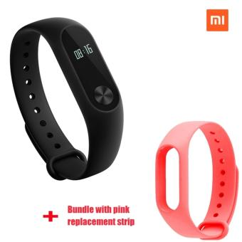 Xiaomi Mi Band 2 Smart Bluetooth Wristband+Pink Replacement Strip(Bundle)
