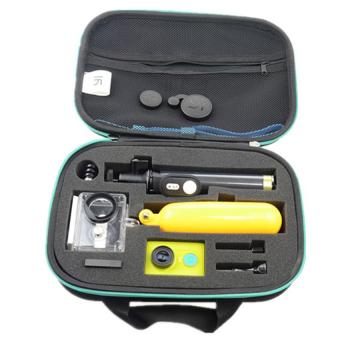 Xiaomi Yi Action Camera High Quality Shock-proof Storage Bag(Black/Cyan) - 5