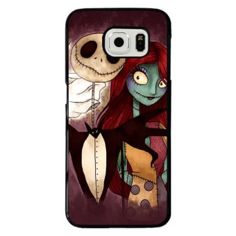 Y&M The Nightmare Before Christmas night Pattern Samgung S6 Edge Phone Case (Black)