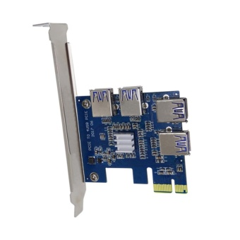 YBC PCI Expansion Card To 4 Ports USB 3.0 Riser Cards For Bitcoin Mining - intl