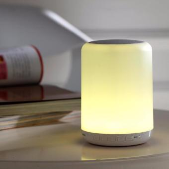 YDL-Y02 Wireless Bluetooth LED Lamp Speaker Changing DecorativeTouch-Sensor Portable Lamp Color Light (White) - 3