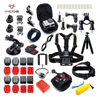 YICOE Kit Case Tripod 360 Rotation Wrist Strap Mount for Gopro Hero 5 4 3 SJCAM SJ6 SJ7 xiaomi yi 4k Go pro Sony Camera Accessories