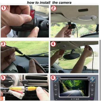 Yika HD Mini Car DVR Video Recorder Hidden Dash Cam Vehicle SpyCamera Night Vision - intl - 3