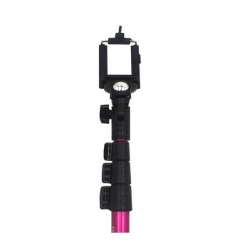 """Yunteng YT-1188 Monopod with Cable and Built-in Remote Shutter (Pink) with Universal Tripod Mount Holder Bracket 1/4""""Thread Adapter For 7""""~10.1""""Tablet iPad (Black) - picture 2"""