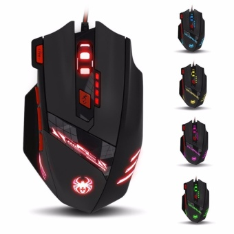 Zelotes T90 Gaming mice 9200 DPI Wired USB Computer mouse for PC Mac 8 Buttons Multi-Modes LED Lights - intl