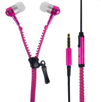 Zipper Super Bass Zipper In-Ear Earphones (Pink)