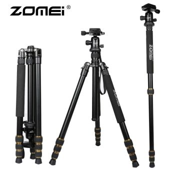 ZOMEI Q666 Portable Camera Aluminium Tripod Monopod with Ball Head for DSLR Canon Nikon Sony DV Video