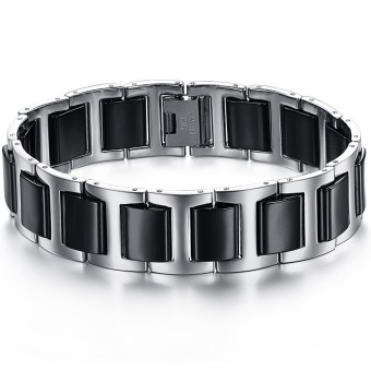 ZUNCLE Simple Stylish Men titanium steel Ceramic Bracelet(Black)