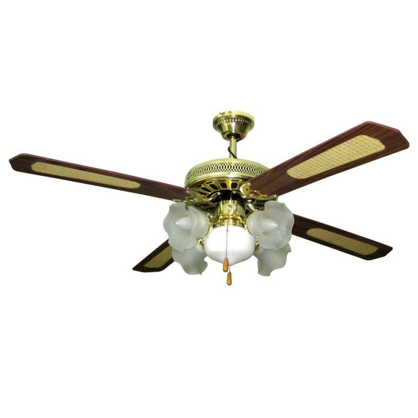 American star jcf 4b5l ceiling fan bright brass lazada ph - Japanese paddle fan ...