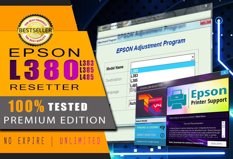 EPSON L3110 RESETTER UNLIMITED PC - Dark Edition